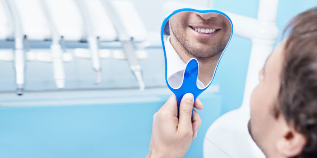 teeth whitening patient smiling